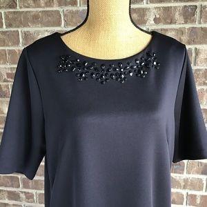 Cynthia Rowley Jeweled Sheath Dress
